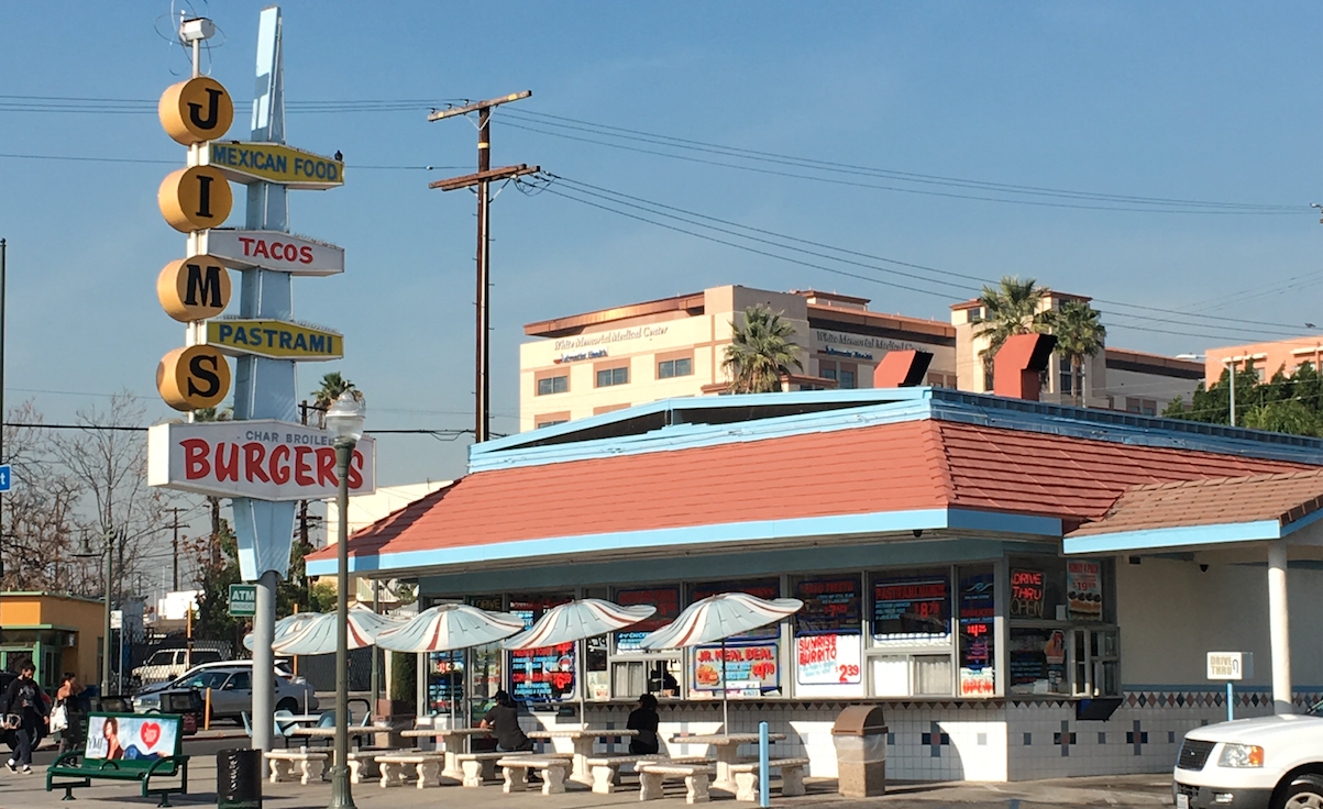 An old burger joint adapts for changing times in Boyle Heights, Los Angeles.