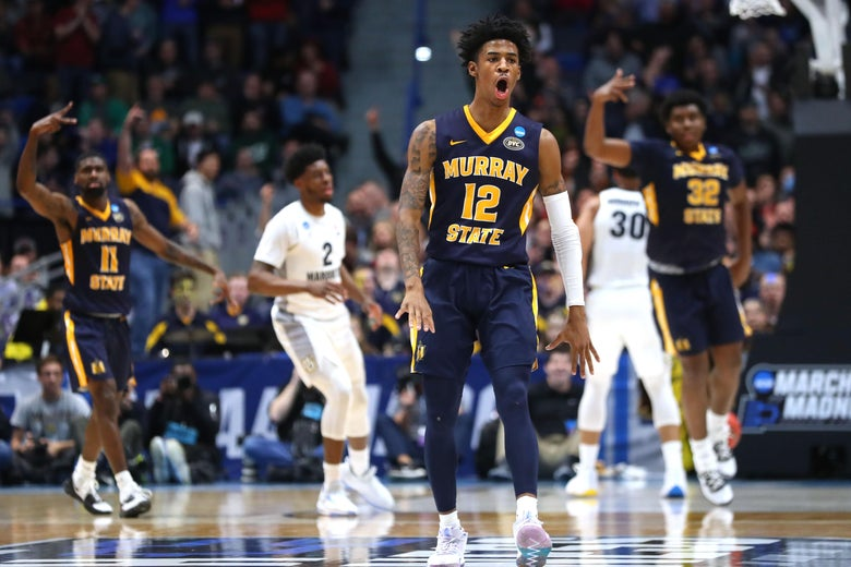 new styles 46853 0179f Ja Morant leads Murray State to a win over Marquette in the ...