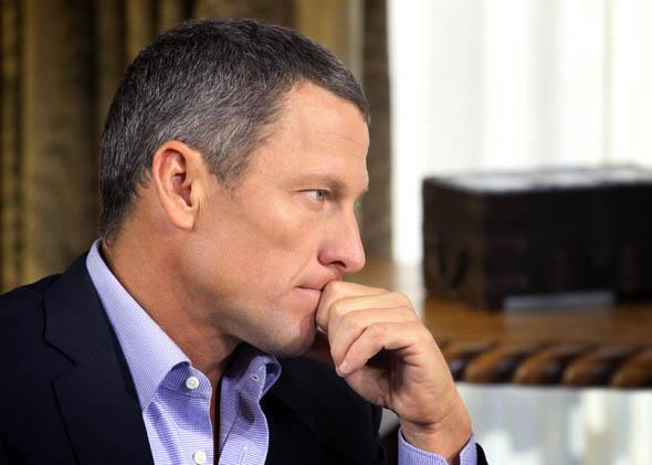 Lance Armstrong speaks with Oprah Winfrey
