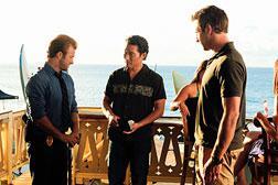 Scott Caan, Daniel Dae Kim, and Alex O'Loughlin in Hawaii Five-O. Click image to expand.