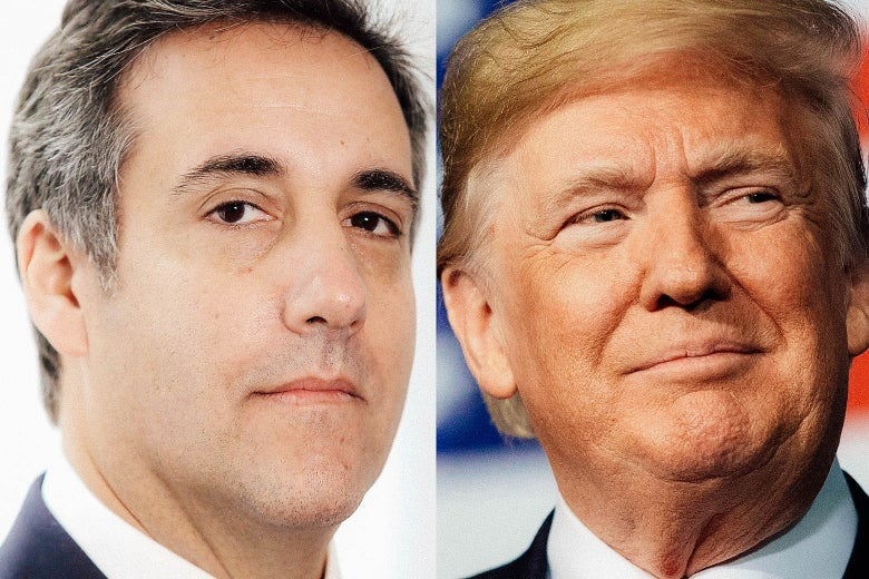 Michael Cohen and Donald Trump.