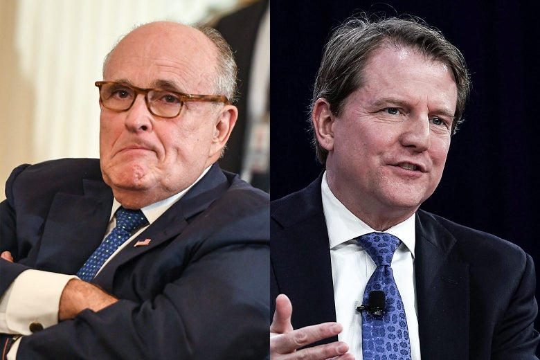 Rudy Giuliani, Don McGahn.
