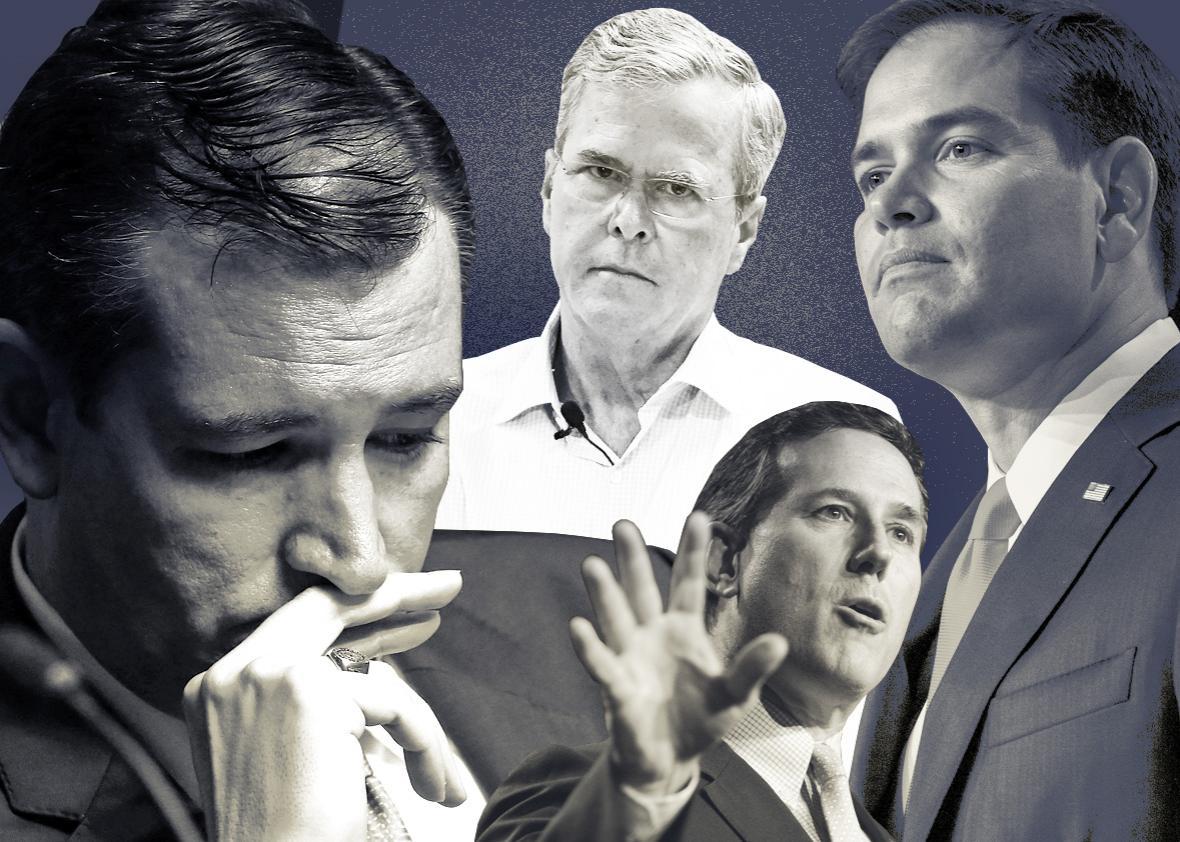 Ted Cruz, Jeb Bush, Marco Rubio, Rick Santorum.