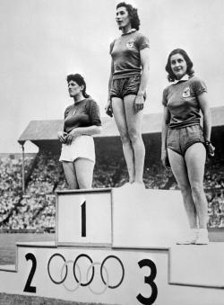 1948 Olympics podium