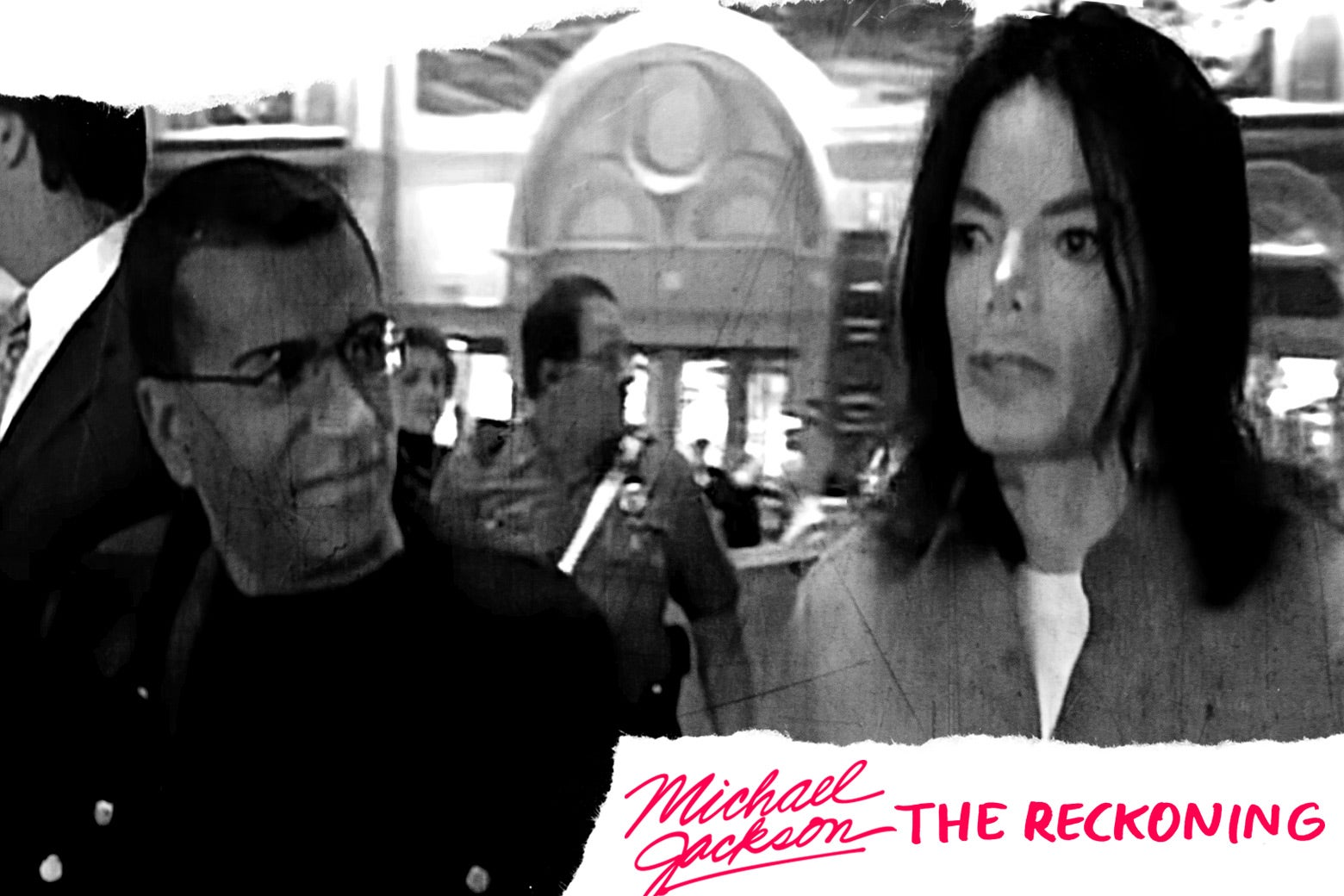 Martin Bashir and Michael Jackson from the 2003 documentary.
