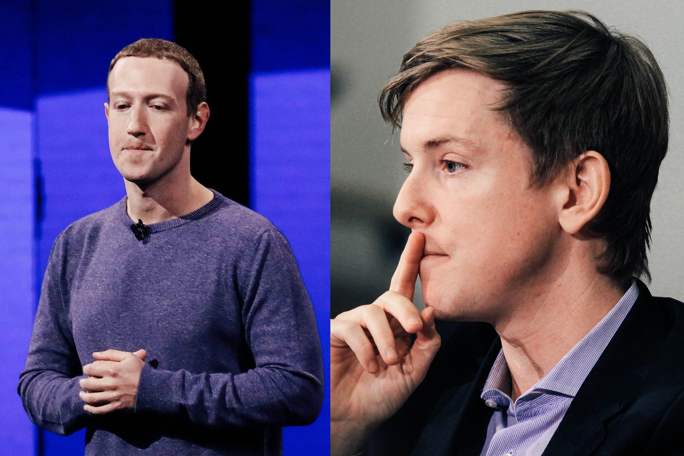 Mark Zuckerberg, Chris Hughes.
