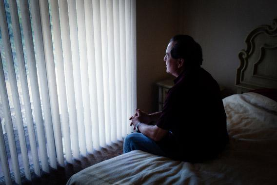 Mike Quinn in his Rancho Cucamonga home.