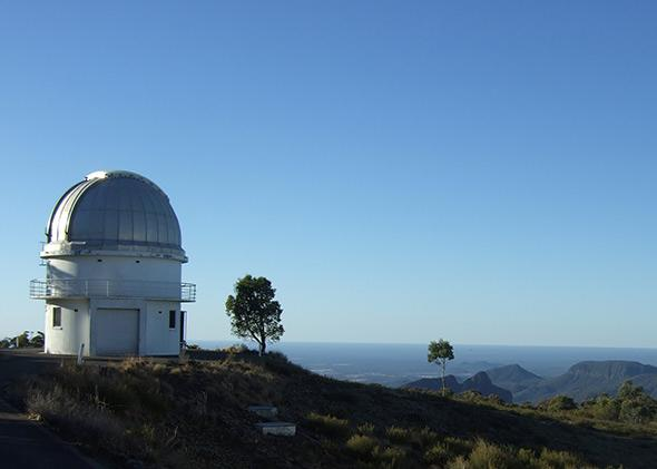 "The 40"" telescope dome at Siding Spring Observatory, New South Wales."