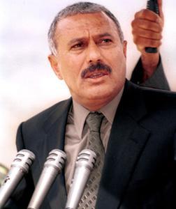 Yemeni President Ali Abdullah Saleh. Click image to expand.