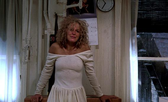 Glenn Close in Adrian Lyne's Fatal Attraction.