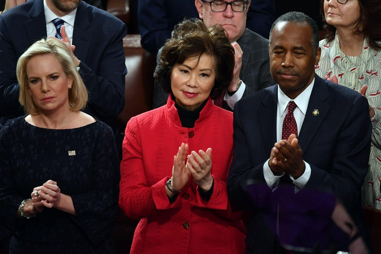 Transportation Secretary Elaine Chao at the State of the Union address on Feb. 5, 2019.