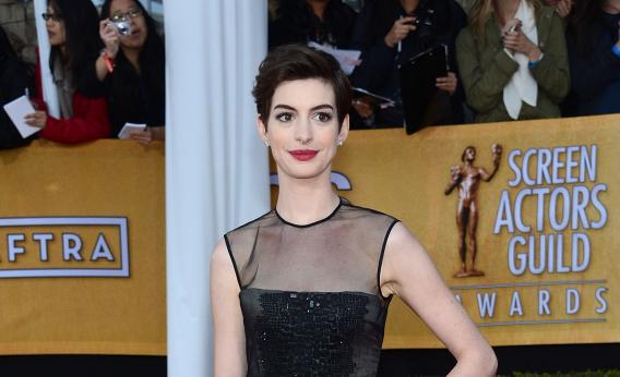 Anne Hathaway at the Screen Actors Guild Awards.