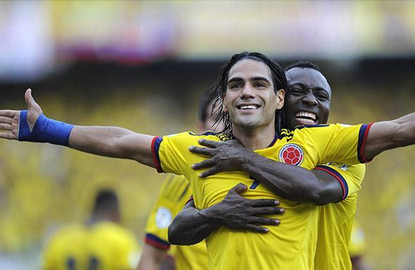 Colombian forward Radamel Falcao FIFA World Cup Brazil 2014.
