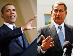 Barack Obama and John Boehner. Click image to expand.