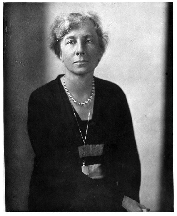 This photograph of Lillian Gilbreth was distributed during the Great Depression.
