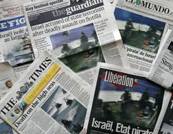 International newspapers on the blockade. Click image to expand.
