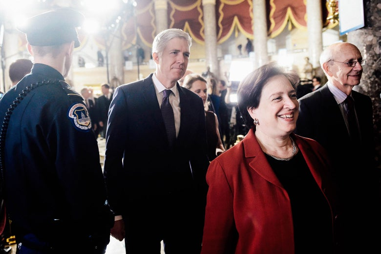 Neil Gorsuch walking into the Capitol