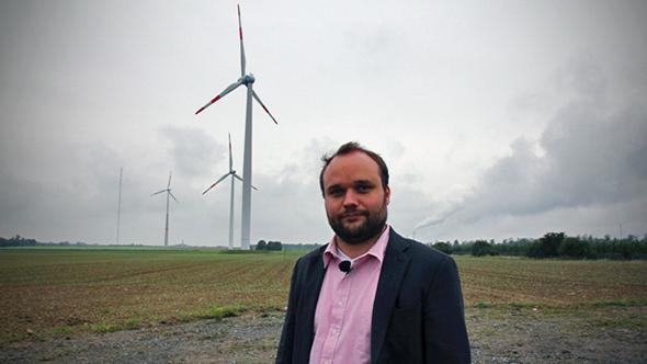 says Germany will need to use stands in front of wind turbines.