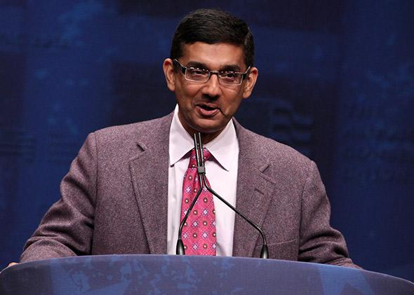 Dinesh D'Souza speaking at CPAC 2012, February 2012.
