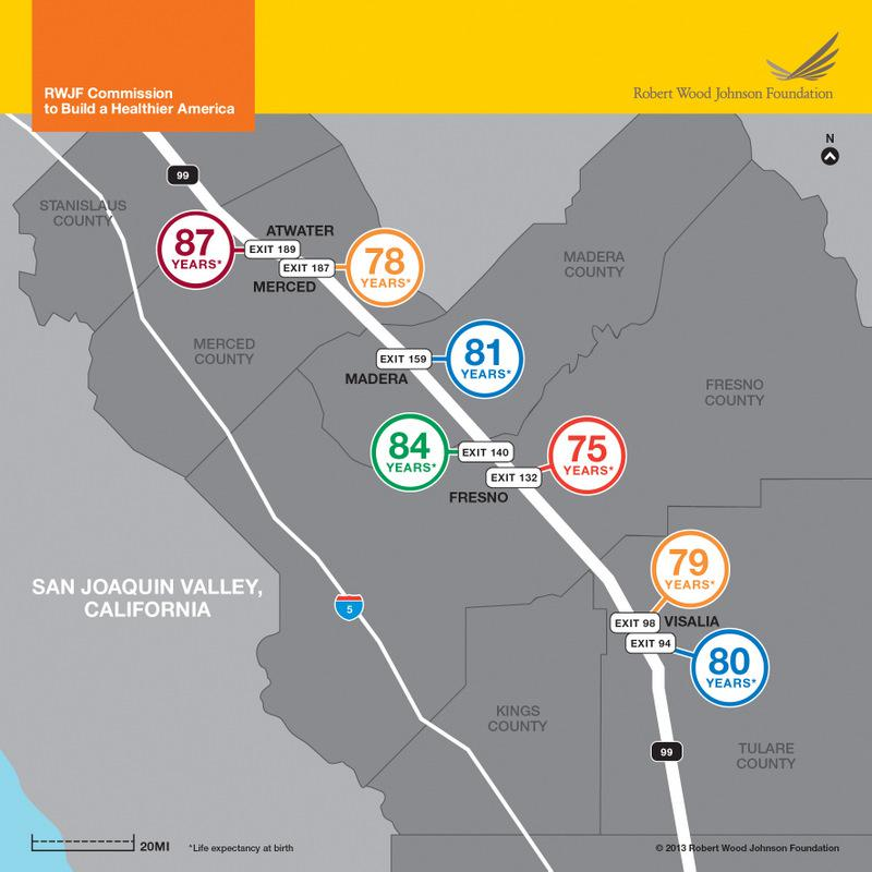 Life expectancy in the San Joaquin Valley, Calif.