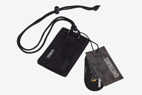 OneTigris Tactical ID Card Holder Hook & Loop Patch Badge Holder Neck Lanyard
