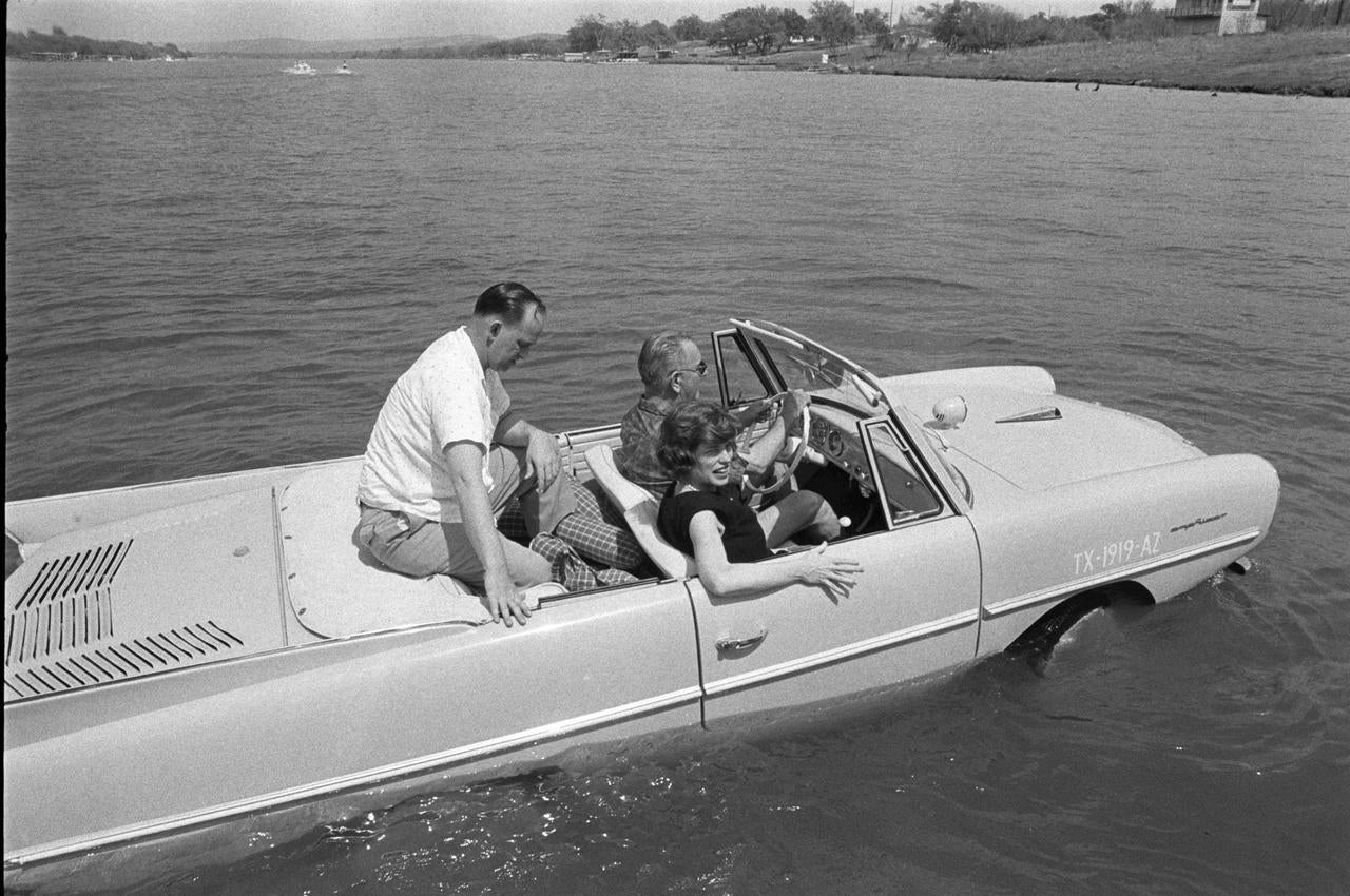 LBJ Drives on Water