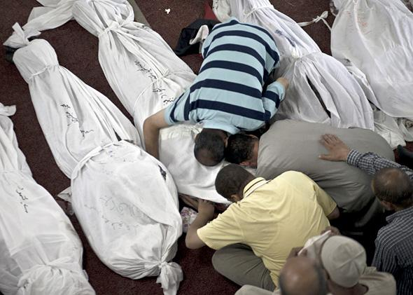 Mourners in Cairo, Egypt