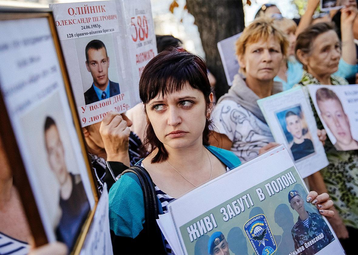 Ukraine servicemen missing