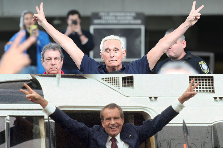 Roger Stone Or Richard Nixon Who Wore The Victory Pose