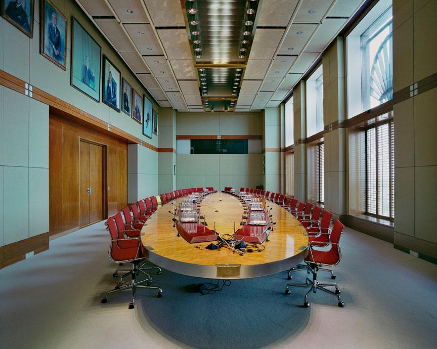 The meeting table of the Board of Directors of Royal Dutch Shell The Hague, Netherlands,  June 7, 2010