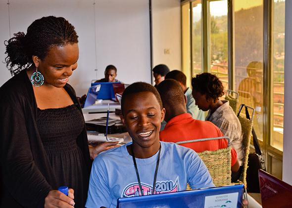 Kepler students in Rwanda