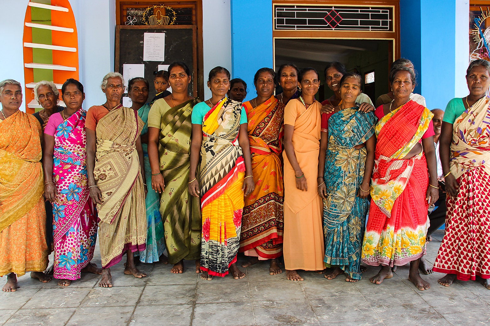 Farmers gather in Karaikal, a port town off the east coast of India.