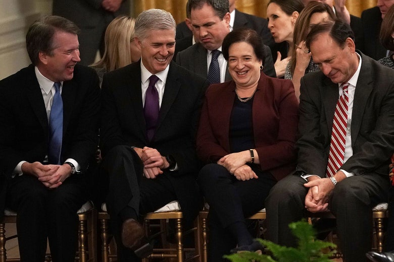 Supreme Court Justices Brett Kavanaugh, Neil Gorsuch, Elena Kagan, Samuel Alito on Nov. 16 in Washington.