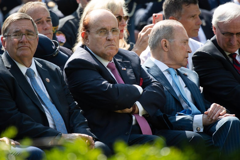 Former New York City Mayor Rudy Giuliani during a ceremony in the Rose Garden of the White House in Washington, DC, July 29, 2019.