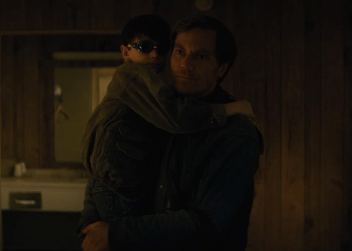 Michael Shannon and Jaeden Lieberher in Midnight Special.