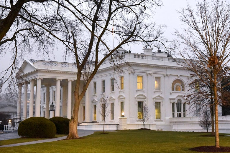 Exterior of the White House.