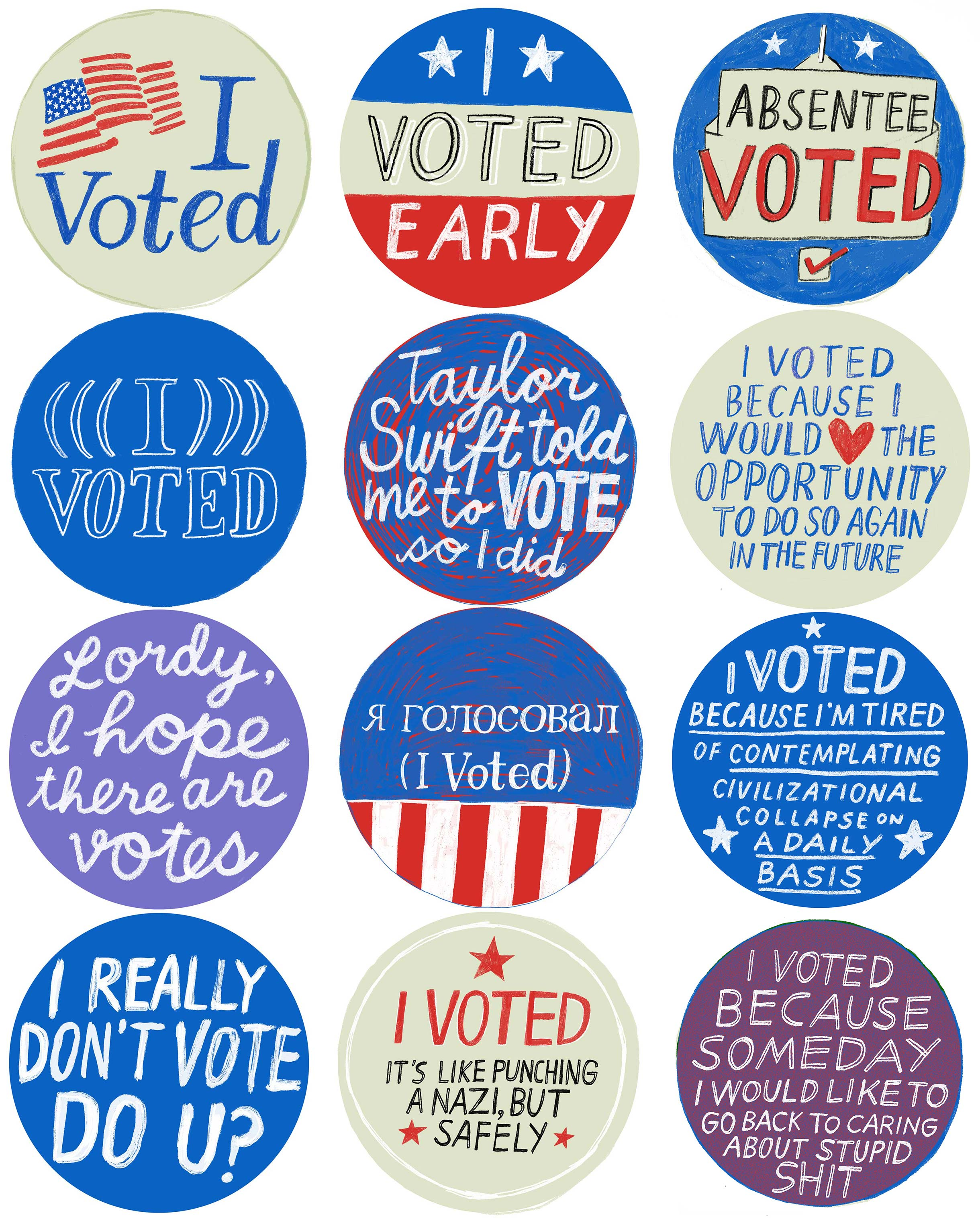 It's just an image of Shocking I Voted Stickers Printable