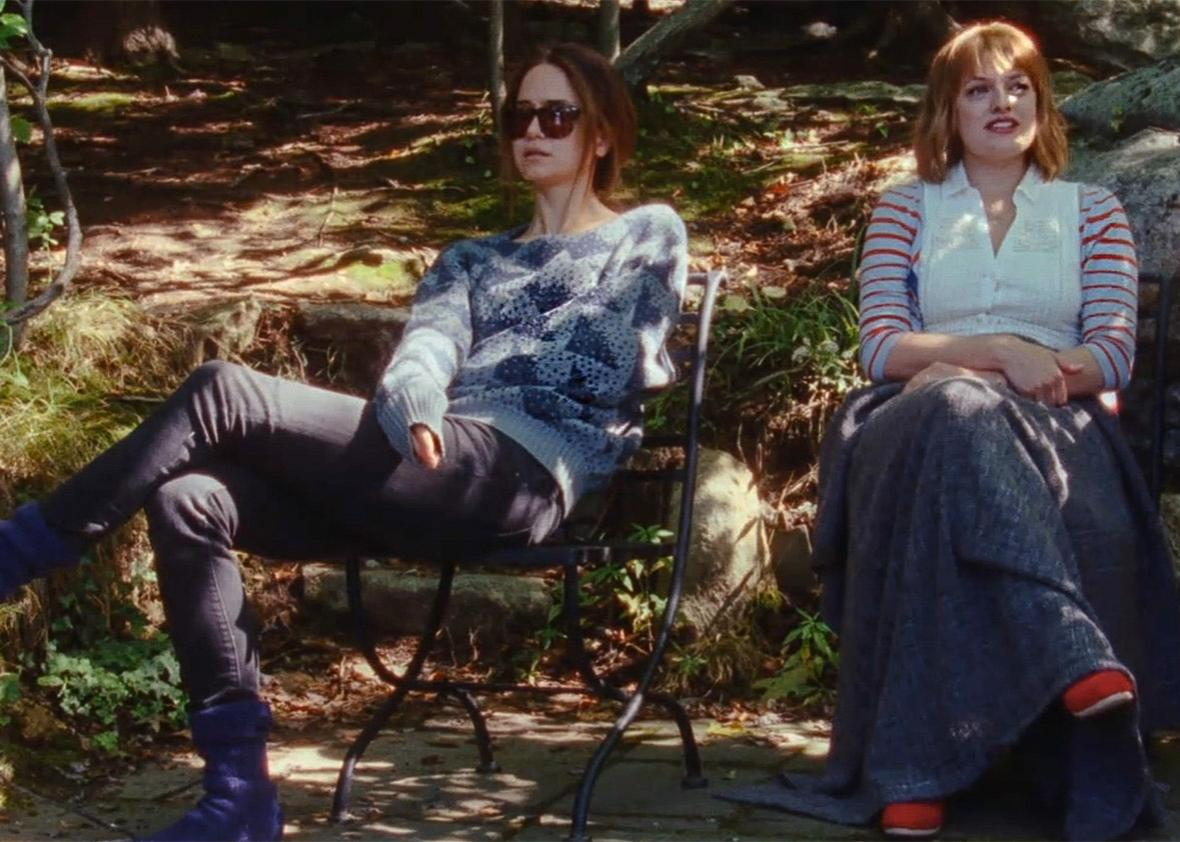 Katherine Waterston and Elisabeth Moss in Queen of Earth.
