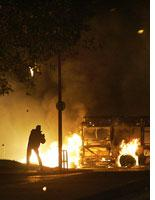 Rioting in Toulouse in November 2005. Click image to expand.