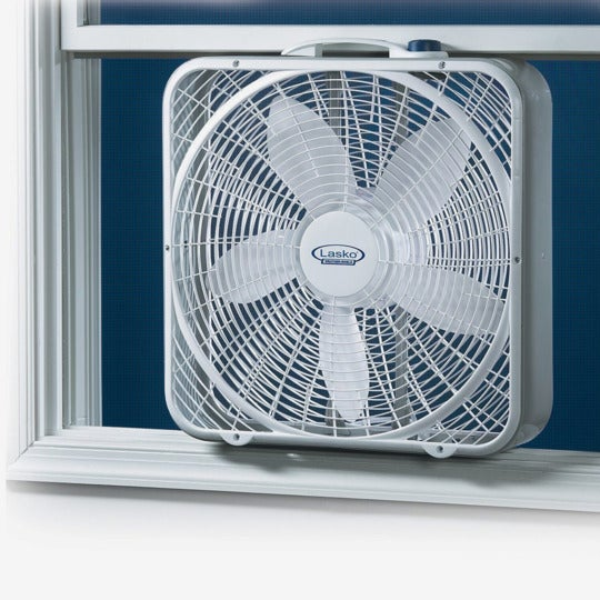 Lasko 20-Inch Weather-Shield Performance Box Fan.