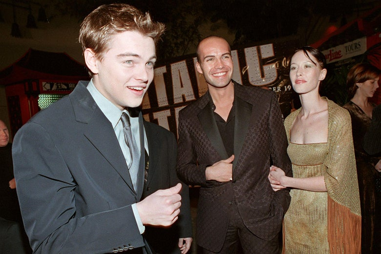 Leonardo DiCaprio at the 1997 premiere of Titanic.