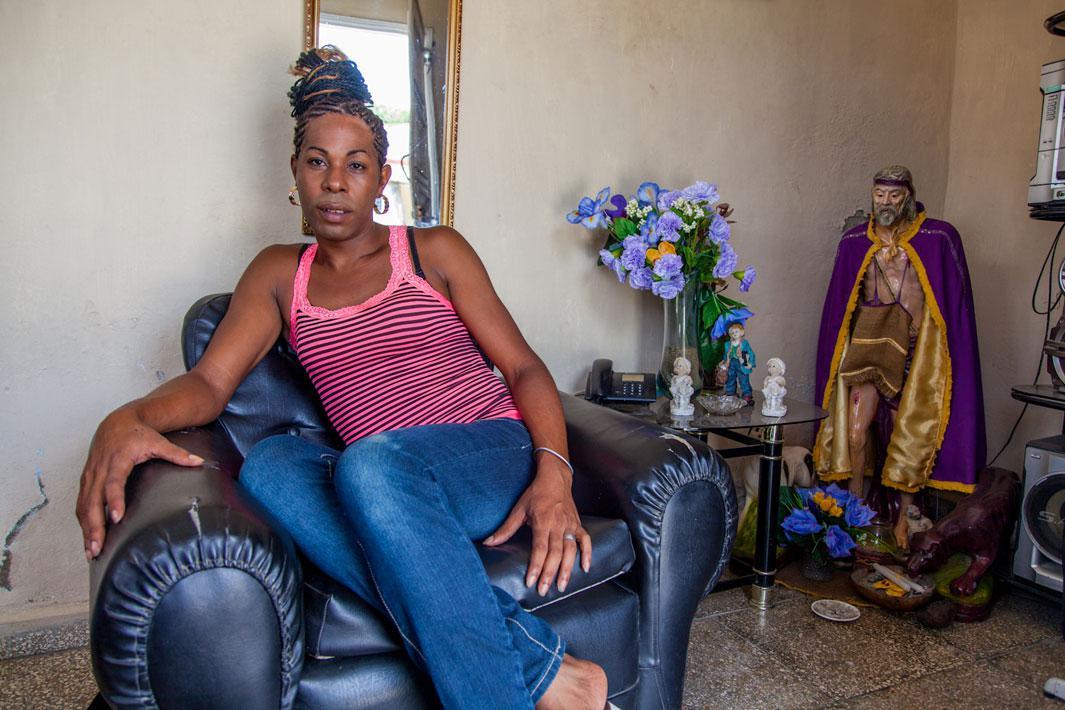Erika at home, Cienfuegos