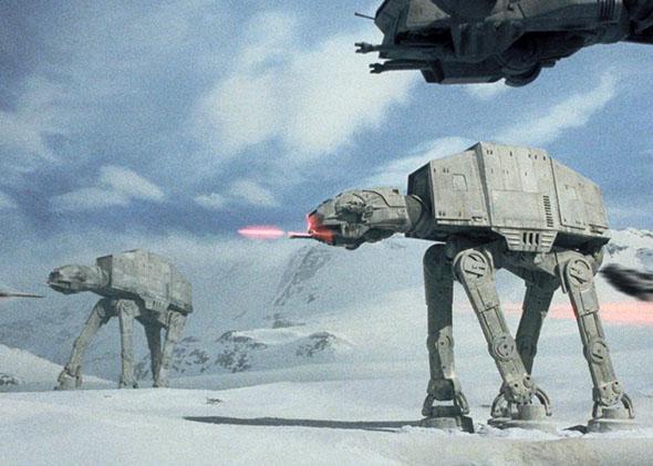 Battle scene from Star Wars: Episode V - The Empire Strikes Back (1980).