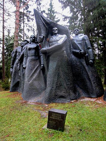 A partisan memorial in a Soviet theme park in Vilnius.