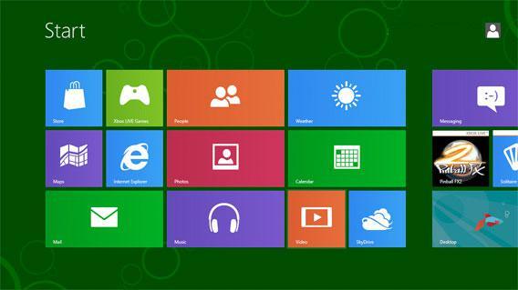 screengrab of Windows 8