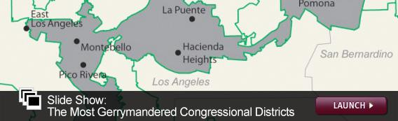 Slide Show: The Most Gerrymandered Congressional Districts. Click image to launch.