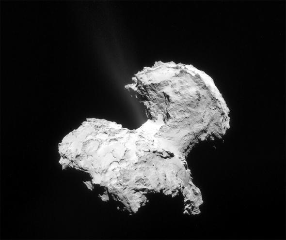 Rosetta comet jet
