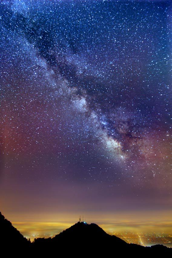 Milky Way over LA
