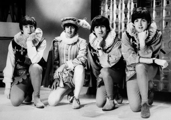The Beatles (from L), John Lennon, Ringo Starr, George Harrison, and Paul McCartney.
