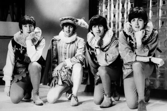 John Lennon, Ringo Starr, George Harrison, and Paul McCartney.